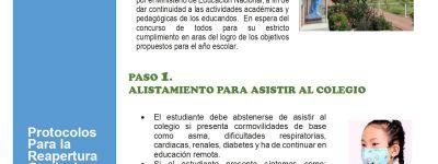 PROTOCOLOS DE BIOSEGURIDAD PARA LA ALTERNANCIA GPS 2021
