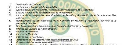 ASAMBLEA GENERAL ORDINARIA 2021